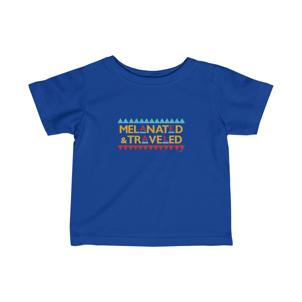 Melanated & Traveled Infant Jersey Tee