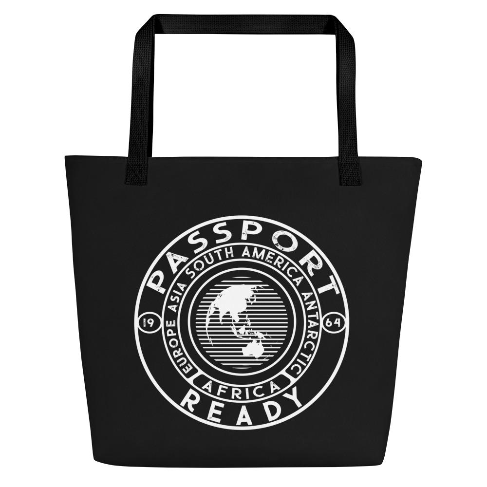 Passport Ready Beach Bag Black