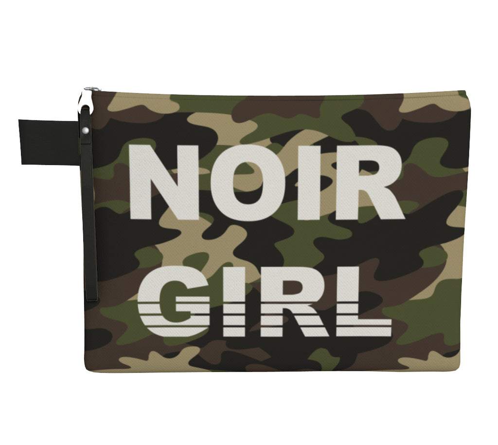 Noir Girl Camo Clutch Front