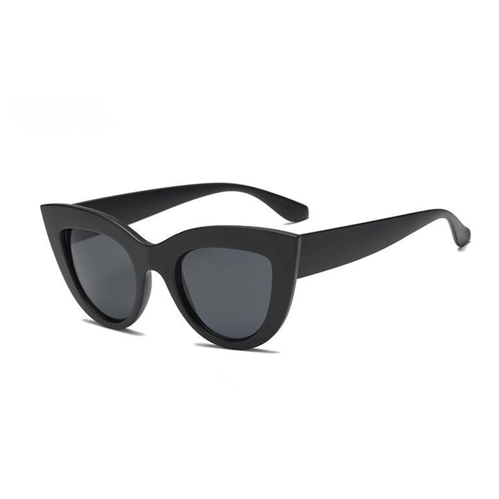 Cat Eye Tinted Color Sunglasses Matte Frame