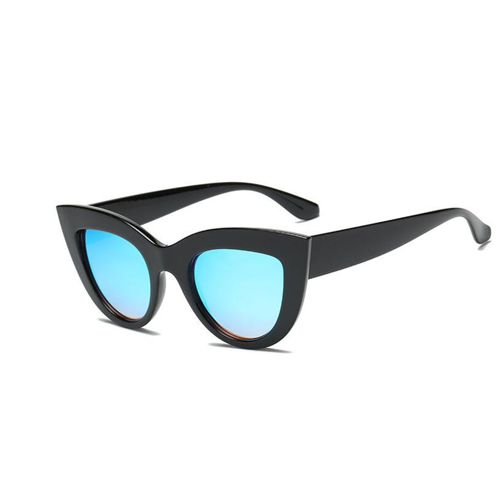 Cat Eye Blue Tinted Sunglasses