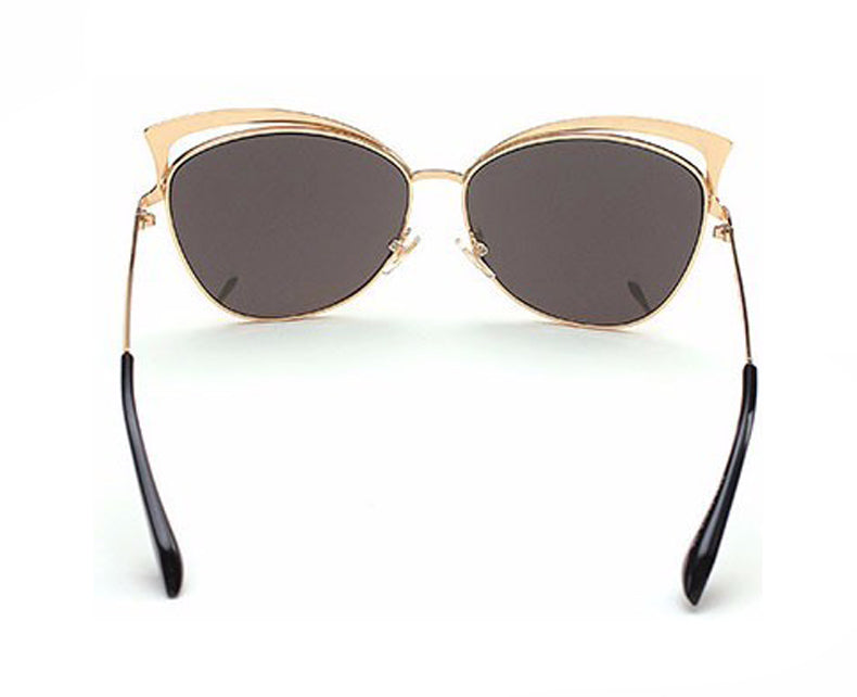 Cat Eye Vintage Twin Beam Mirrored Sunglasses Back View
