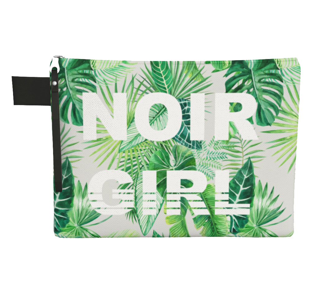 Noir Girl Tropical Paradise Clutch Front
