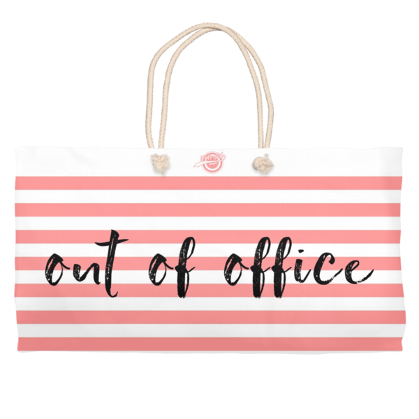 Noir Girl Magic Out Of Office Weekender Tote- Peach