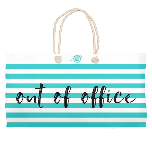 Noir Girl Magic Out Of Office Weekender Tote-Sea Green Blue