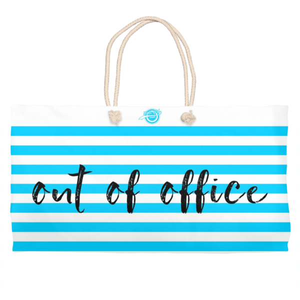 Noir Girl Magic Out Of Office Weekender Tote- Sky Blue