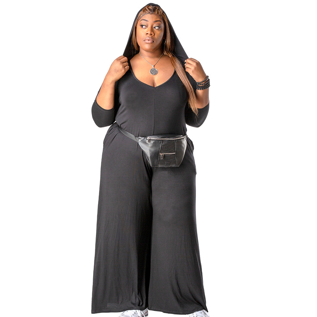The Andrea Palazzo Wide Leg Flowy Jumpsuit | Plus Size
