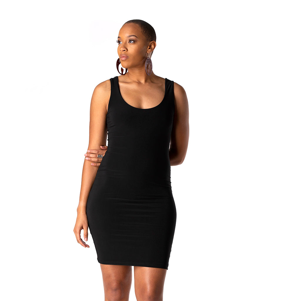 Bodycon Tank Dress | Black
