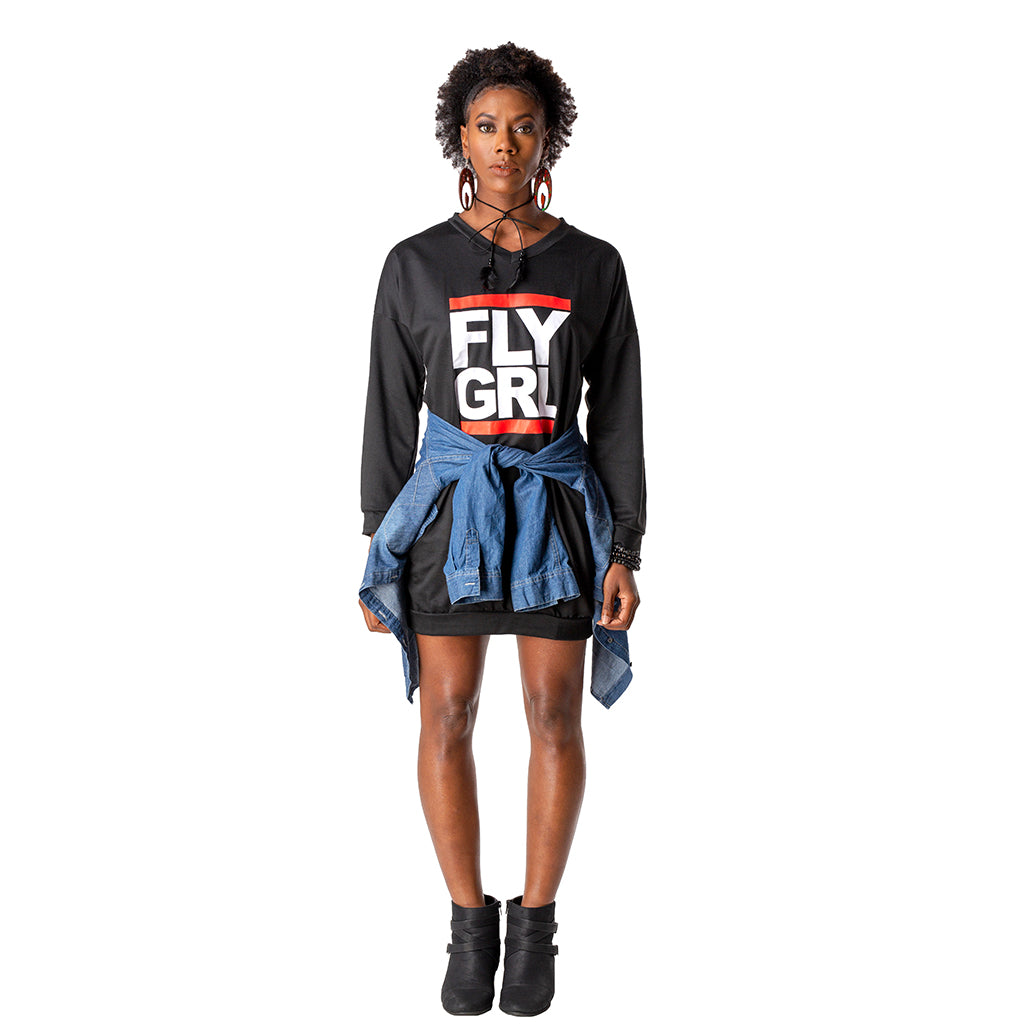 Fly Girl Sweatshirt Dress