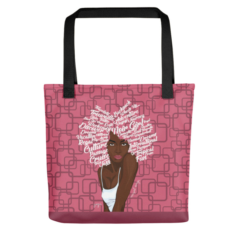Noir Girl Magic Zoya Tote Bag Rapture Rose