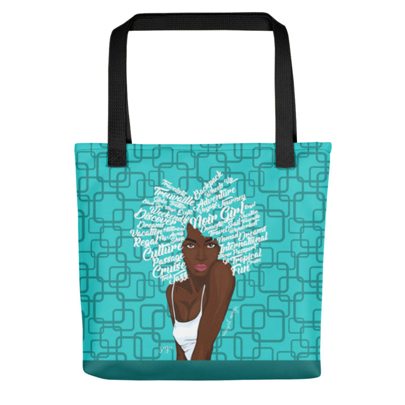 Noir Girl Magic Zoya Tote Bag Sea Green Blue