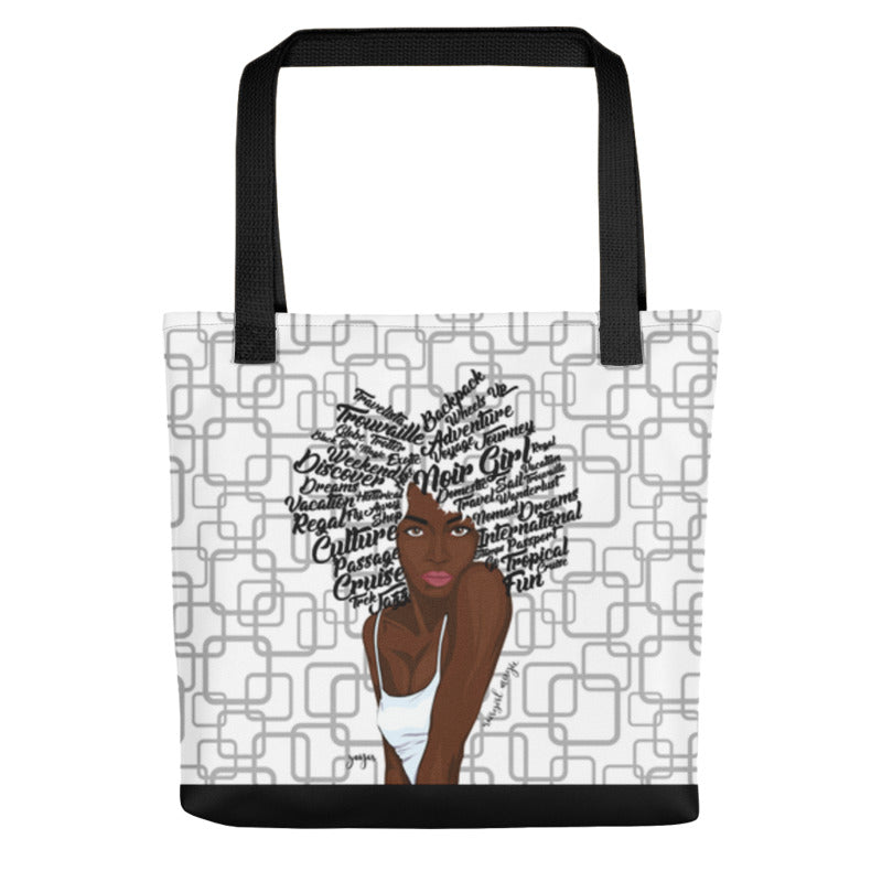 Noir Girl Magic Zoya Tote Bag White Black