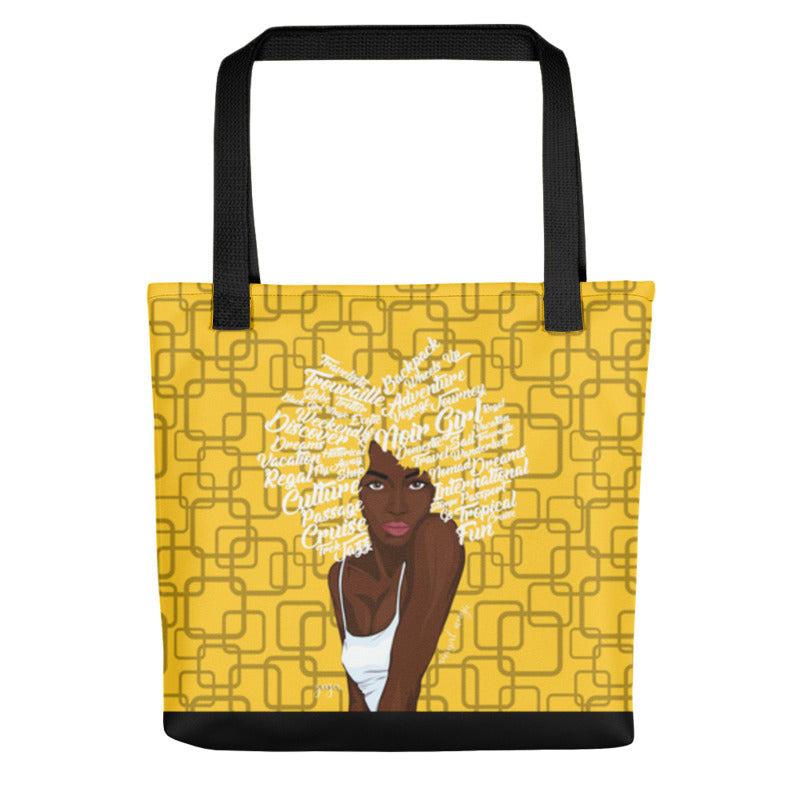 Noir Girl Magic Zoya Tote Bag Yellow