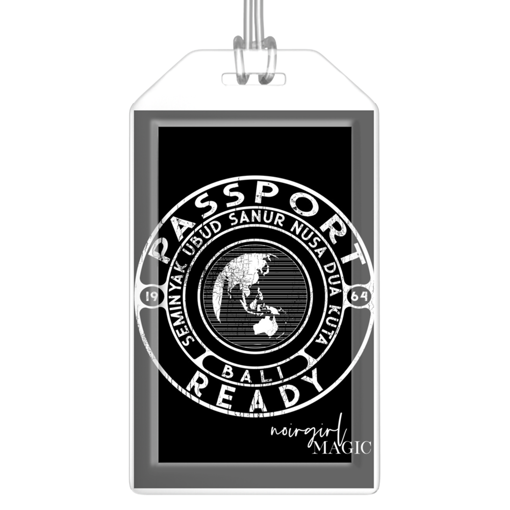 Passport Ready Bali Luggage Tags Black