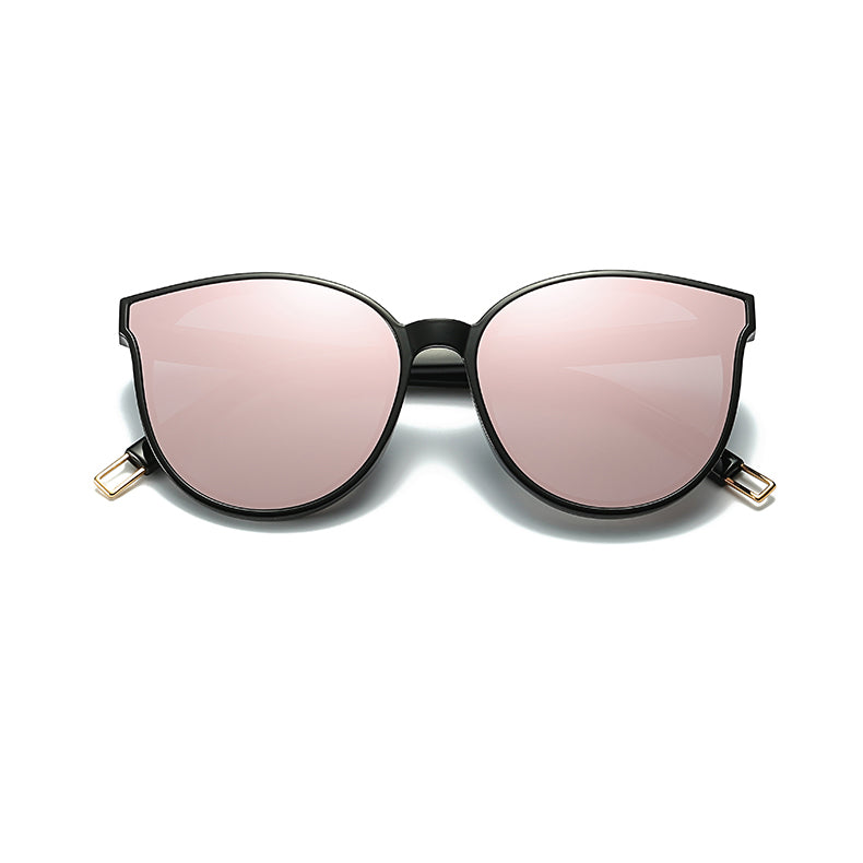 Flat Top Cat Eye Sunglasses Gold Pink