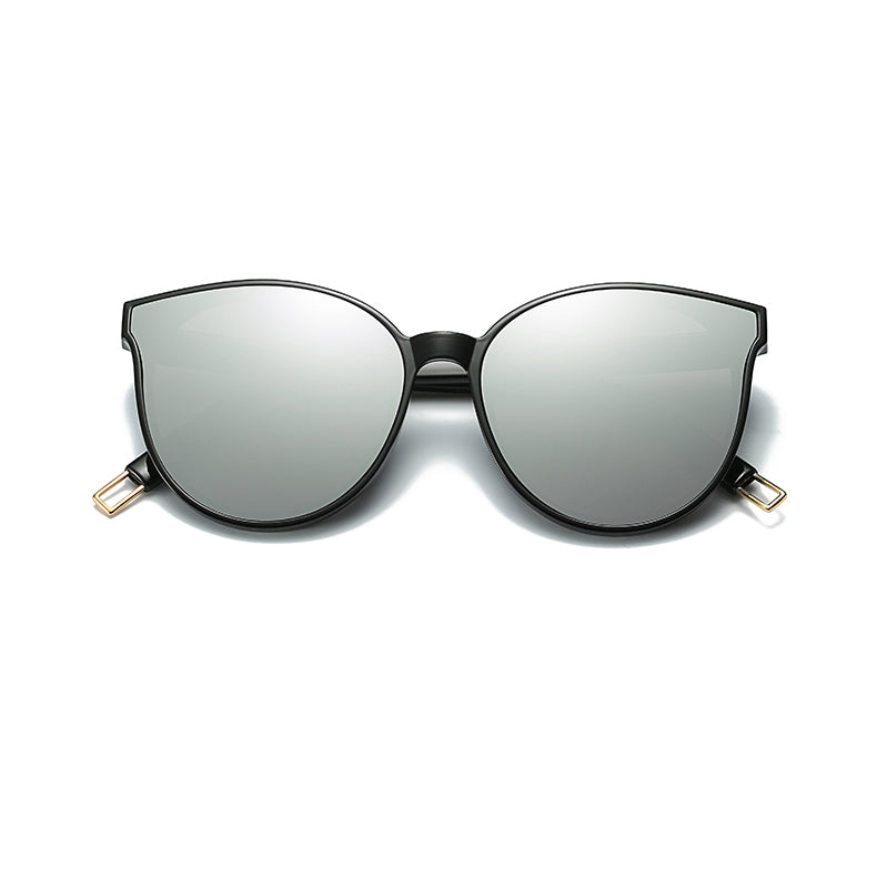 Flat Top Cat Eye Sunglasses Silver