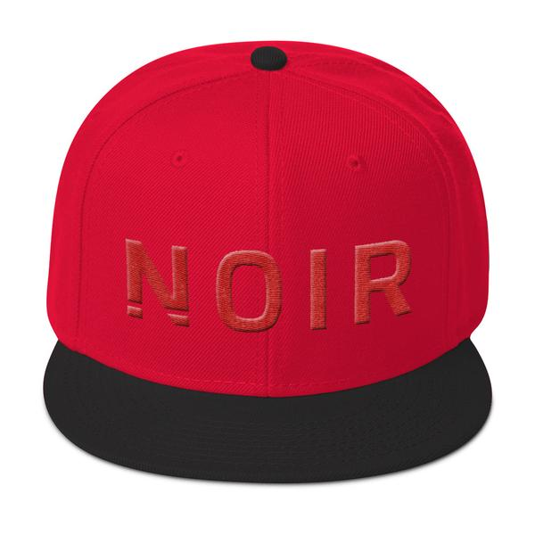 Noir Girl Magic Noir Snapback Cap Black Red
