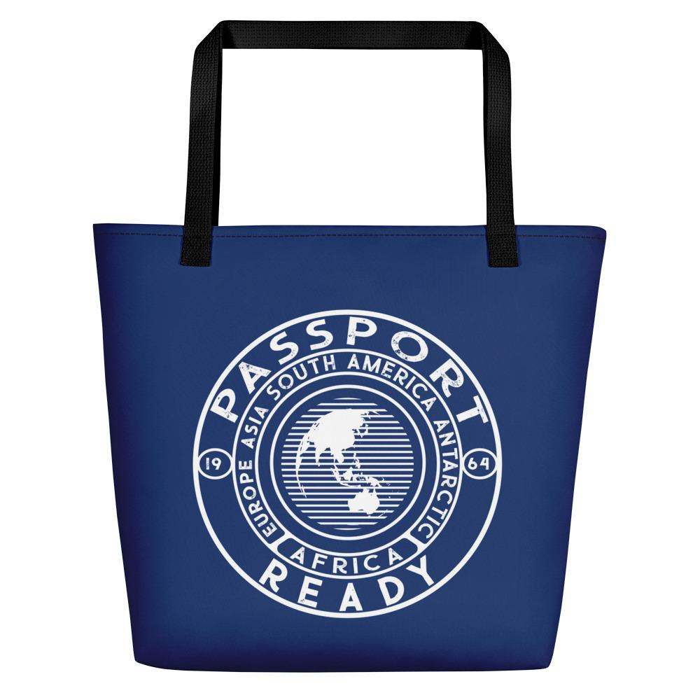 Passport Ready Beach Bag Navy Blue