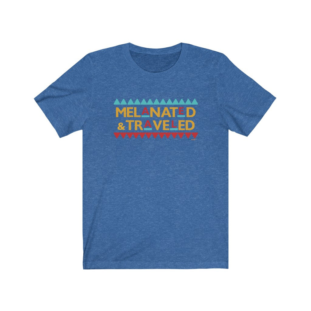 Melanated & Traveled Short Sleeve Tee | Unisex