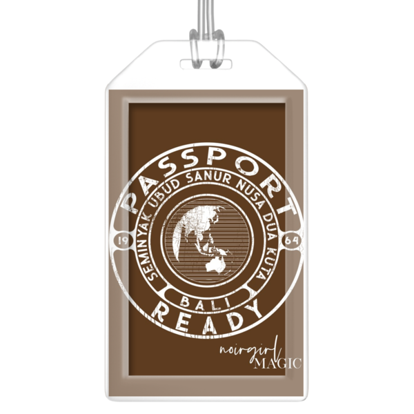 Passport Ready Bali Luggage Tags Chocolate