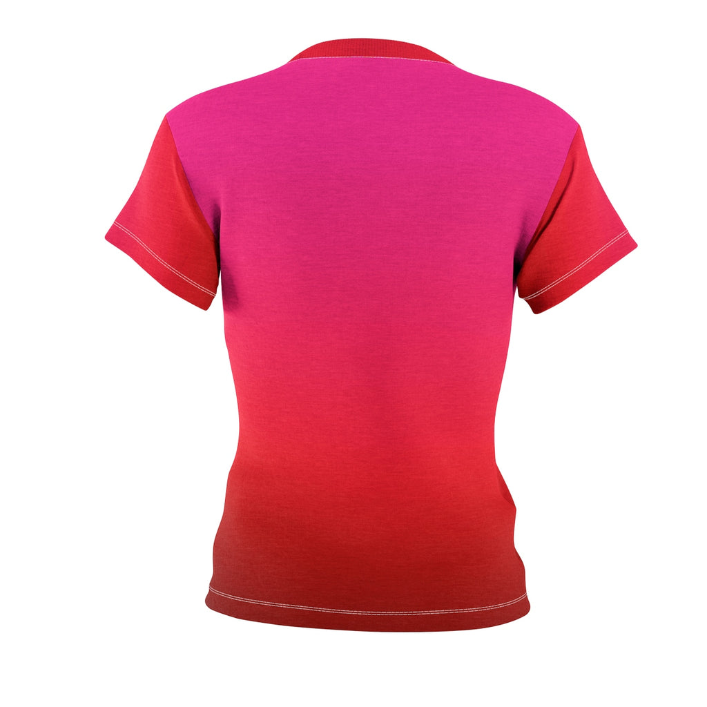 Passport Ready Crew Neck Tshirt | Pink Red Bali Back