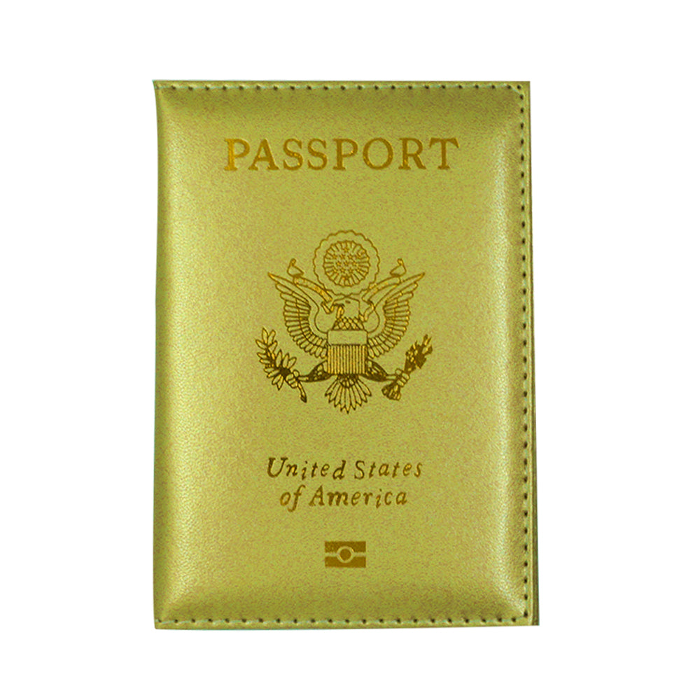Travel Cute Passport Covers Gold
