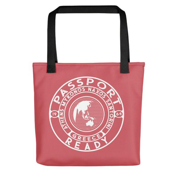 passport ready tote bag in the color melon