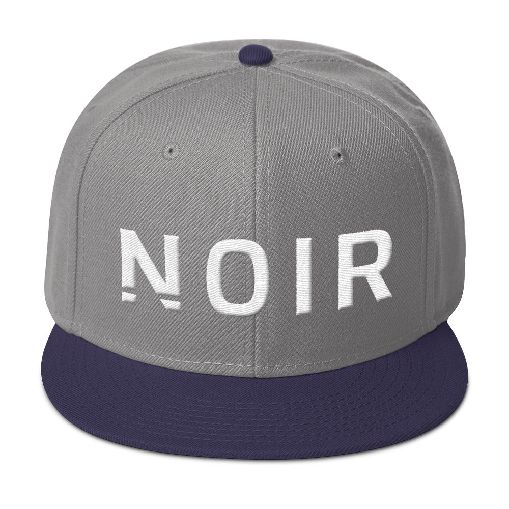 Noir Girl Magic Noir Snapback Cap Grey Navy