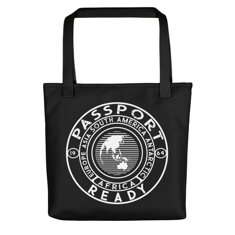 Black Passport Ready Tote Bag