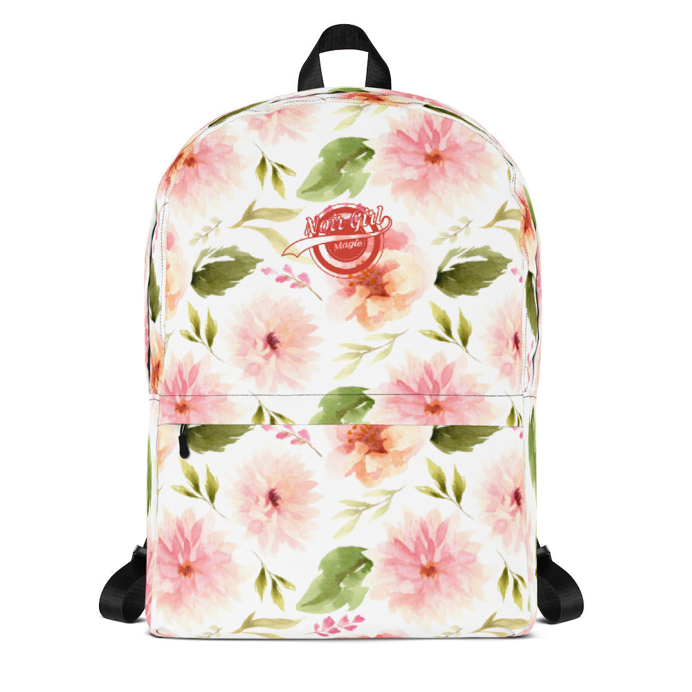 Dahlias and Roses Backpack