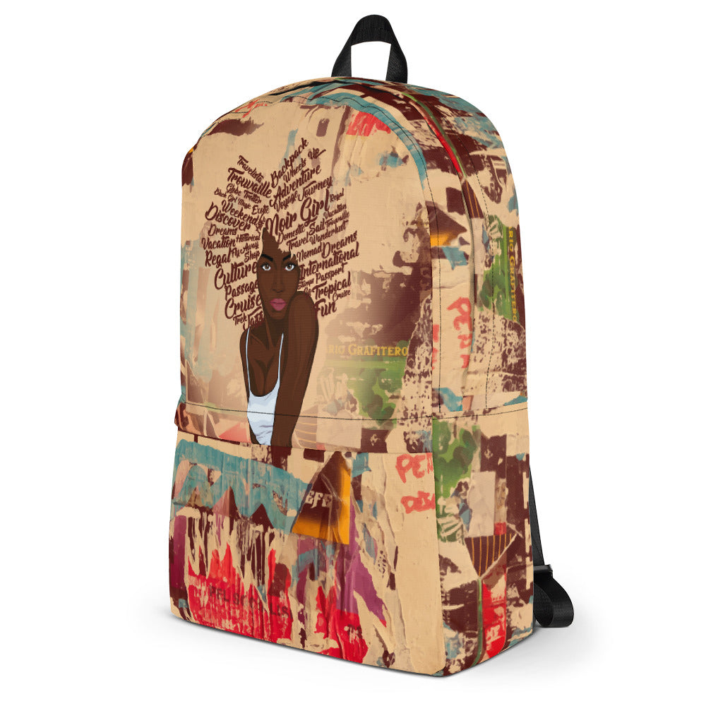 Zoya Graffiti Travel Backpack Side