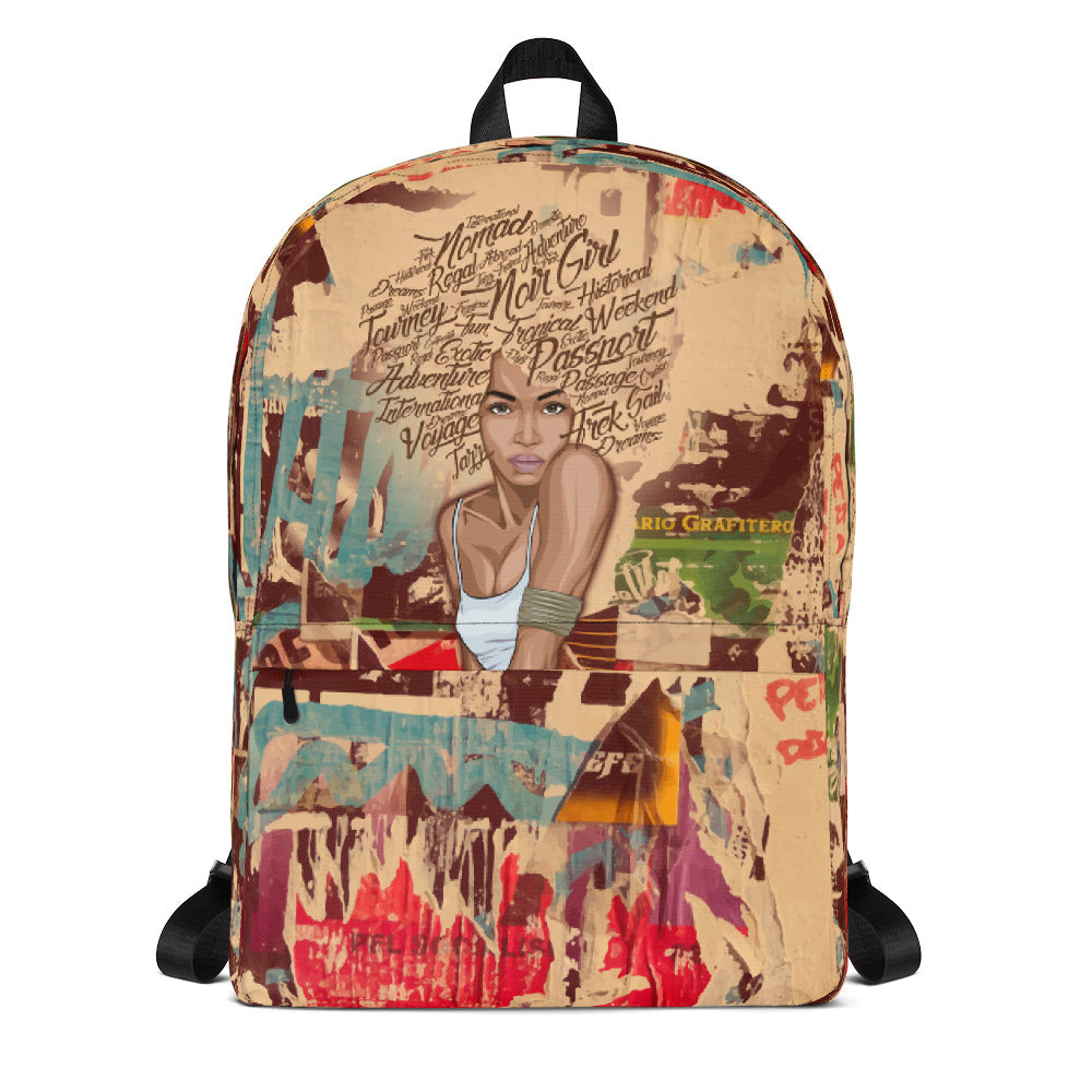 Nori Graffiti Travel Backpack Front