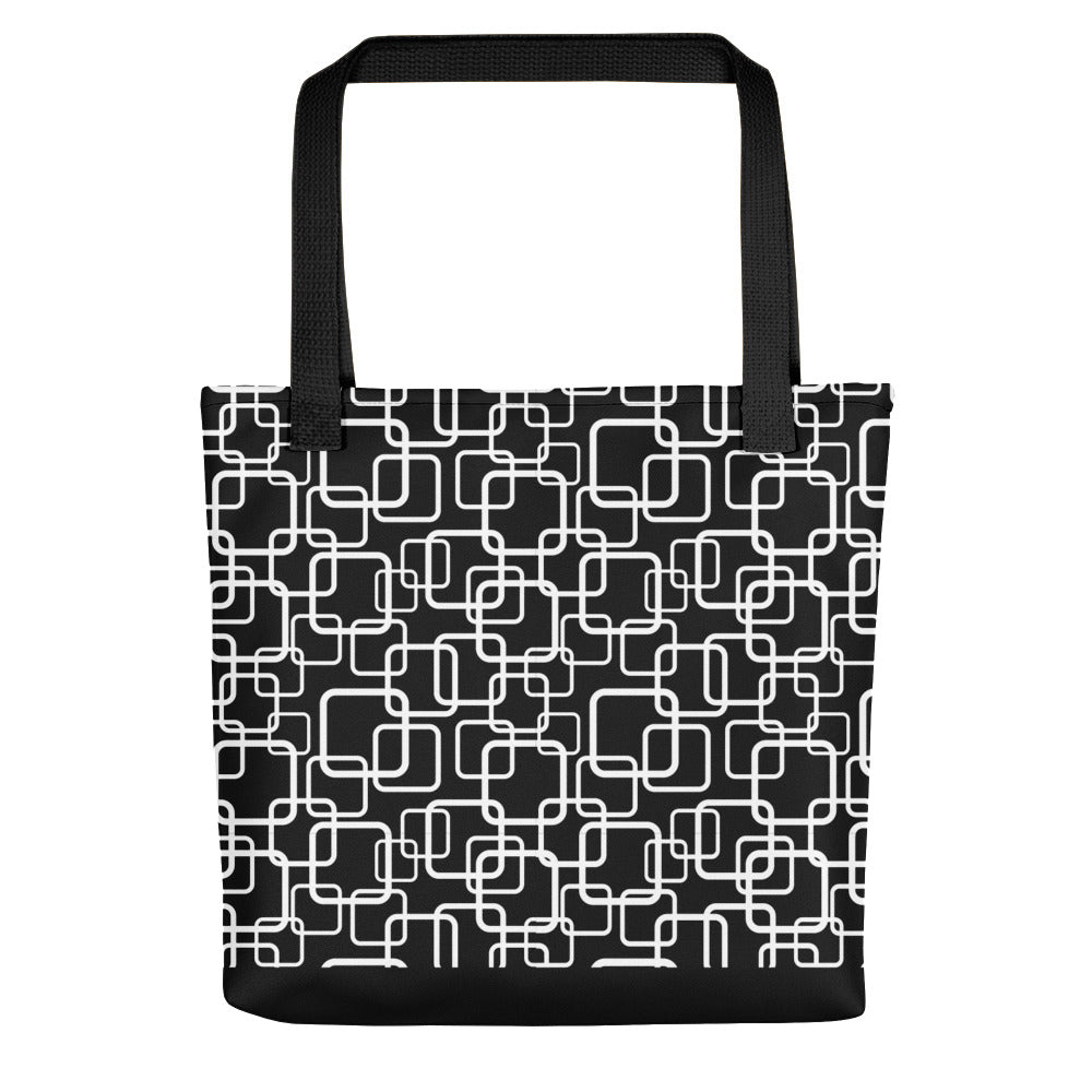 Noir Girl Magic Squares Tote bag