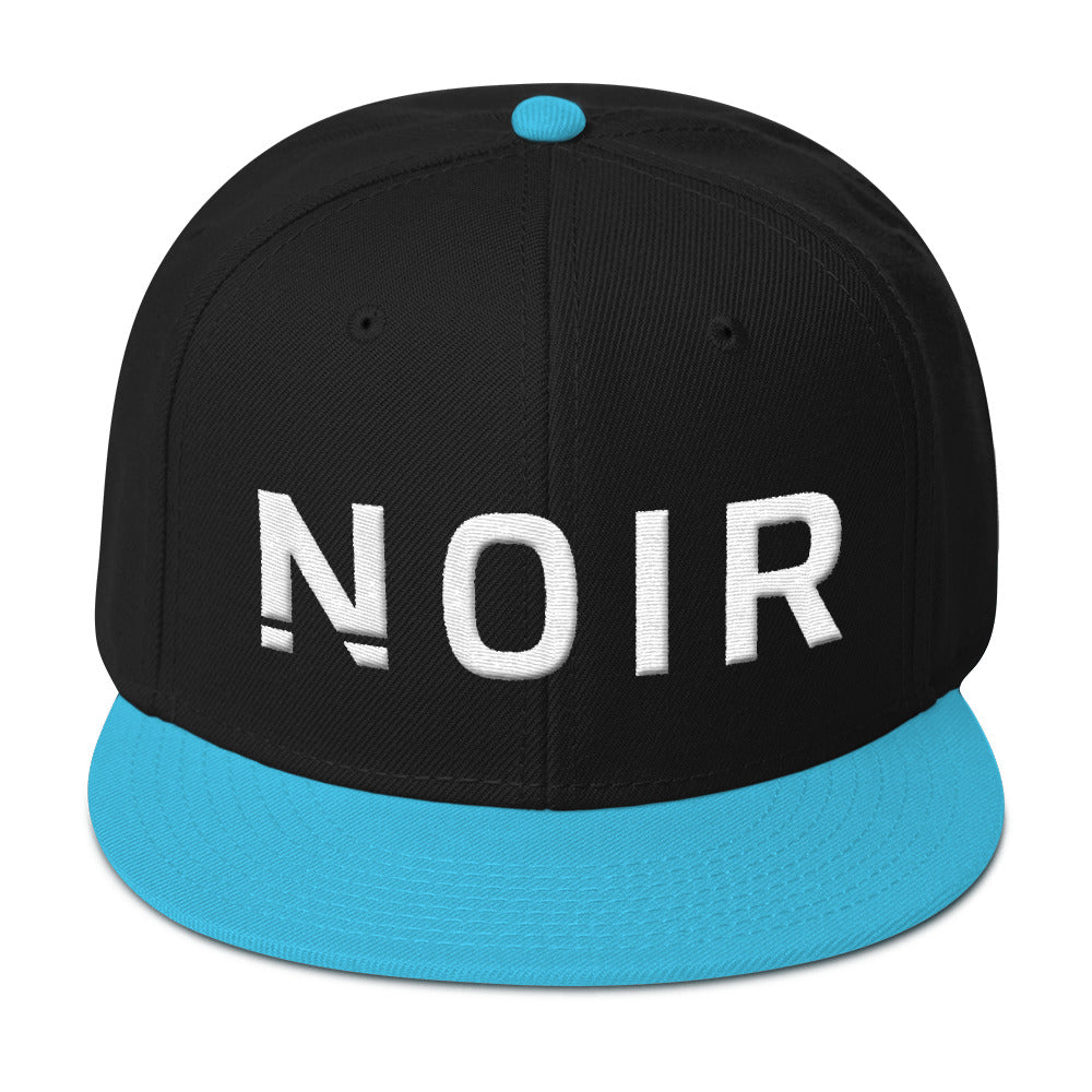 Noir Girl Magic Noir Snapback Cap Aqua Blue Black