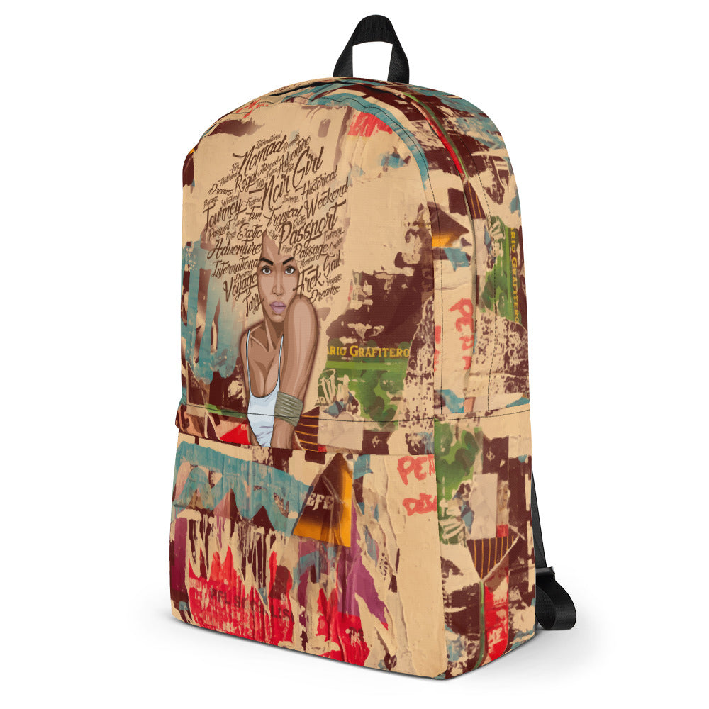 Nori Graffiti Travel Backpack Side