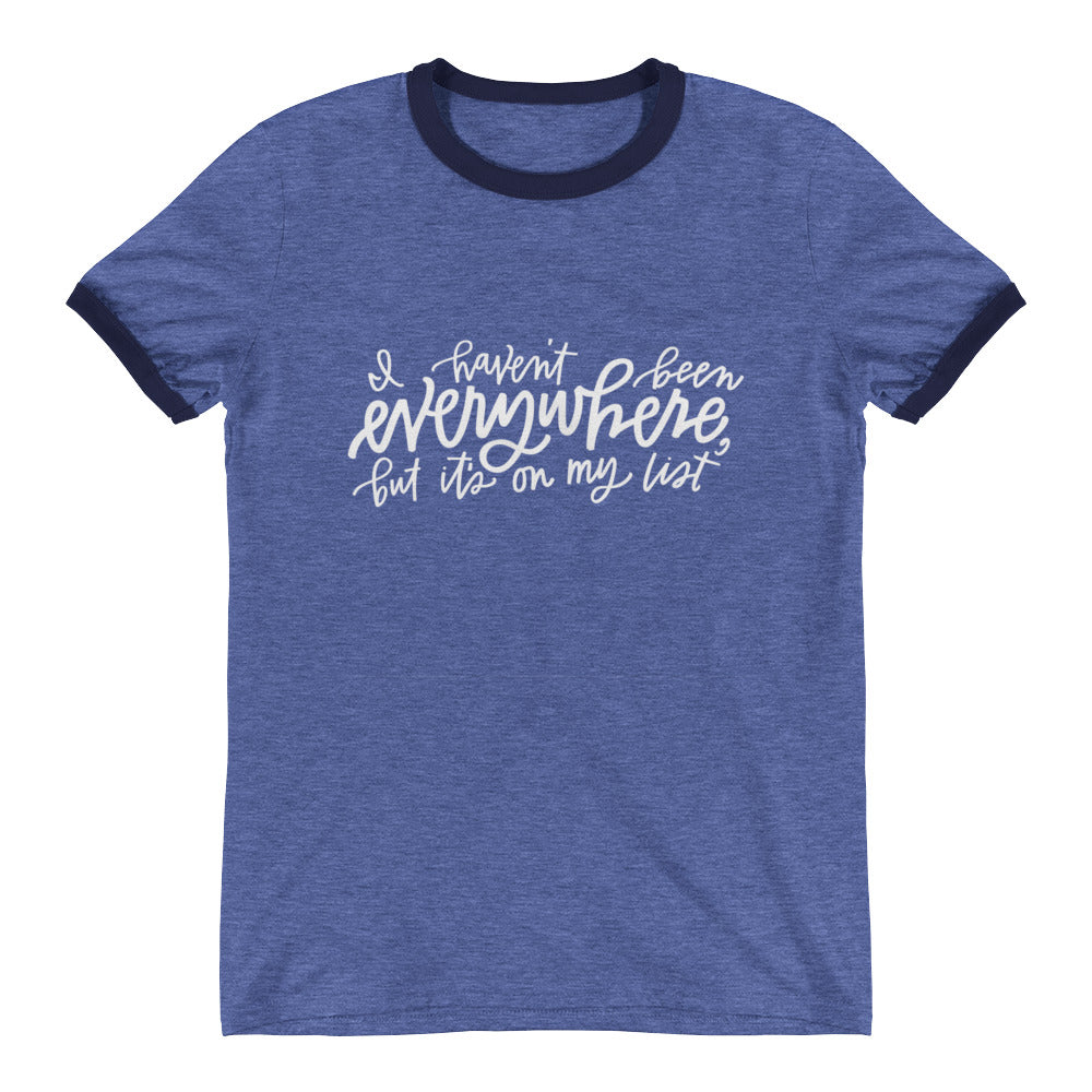 I Haven't Been Everywhere Ringer Tee Blue
