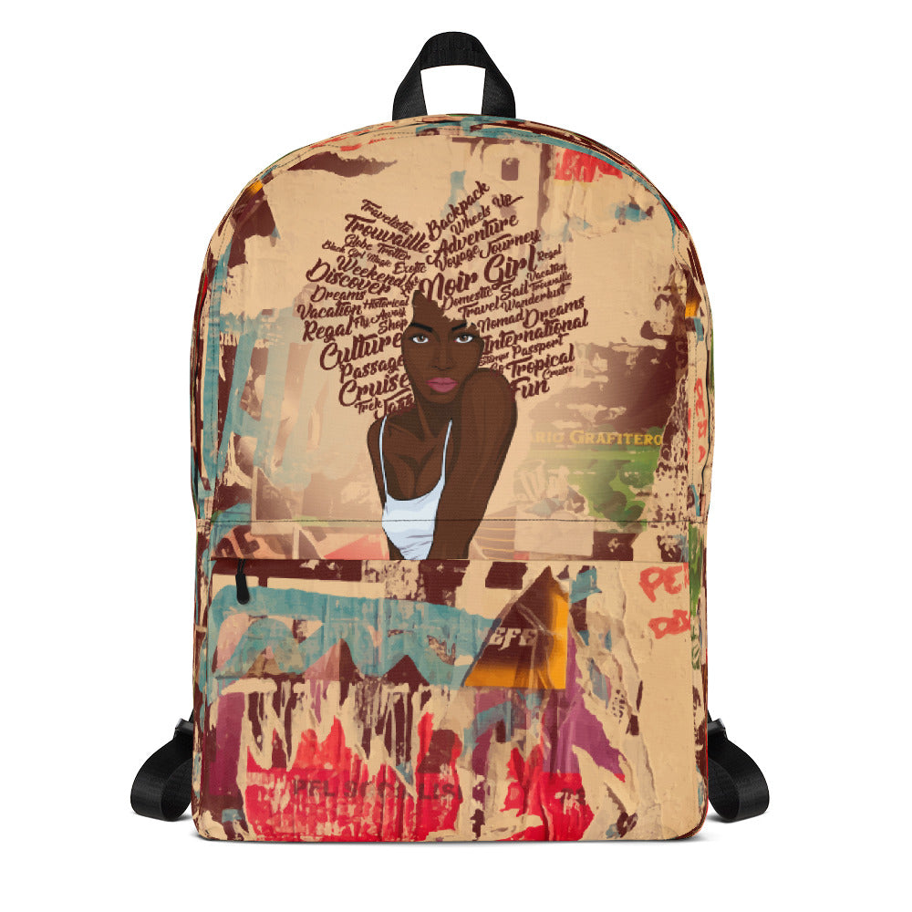 Zoya Graffiti Travel Backpack Front