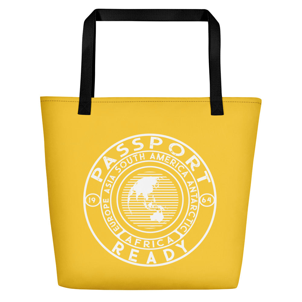 Passport Ready Beach Bag Yellow