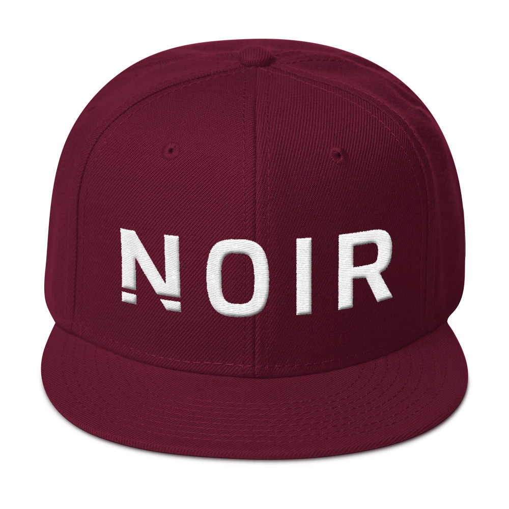 Noir Girl Magic Noir Snapback Cap Burgandy
