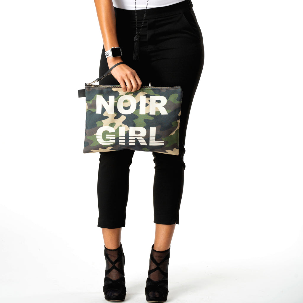 "Noir Girl Camo Clutch | 10"" - 16"""