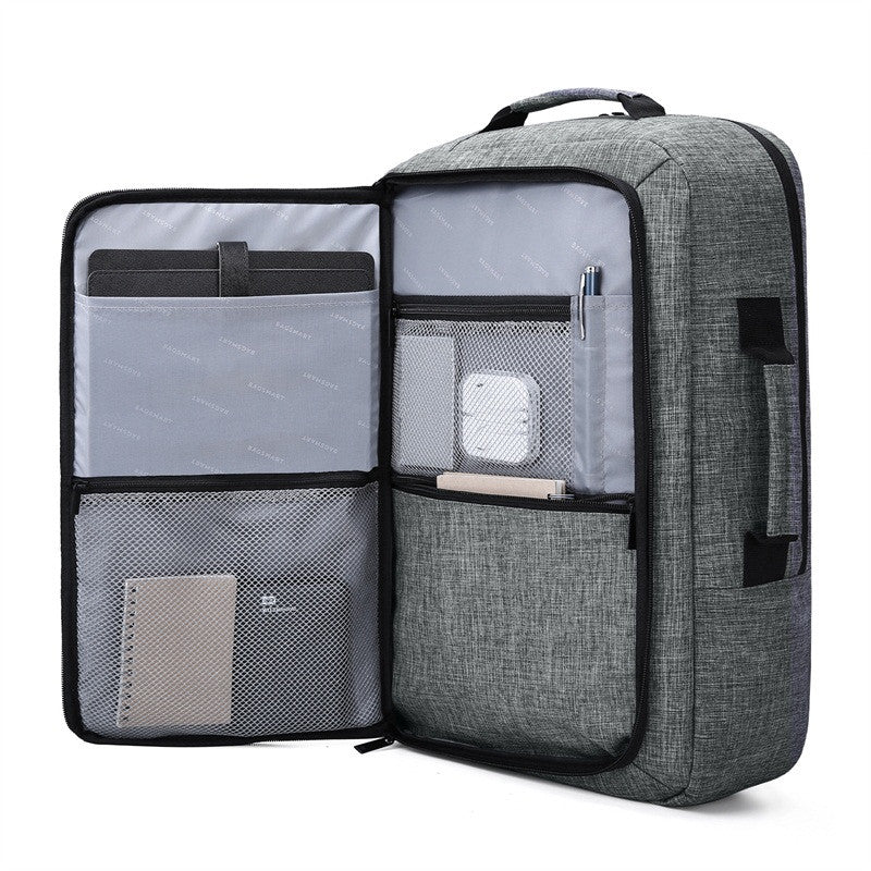 Noir Girl Magic Laptop Backpack Convertible Briefcase 2-in-1 Grey