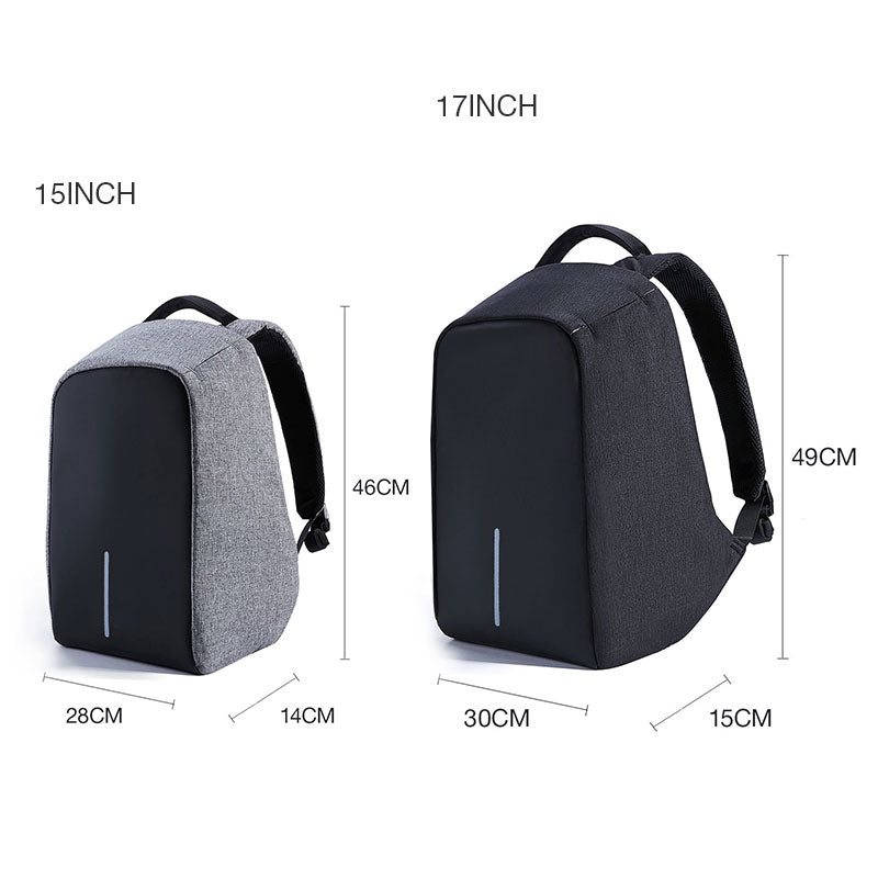 Anti Theft Water Resistant Backpack Sizing