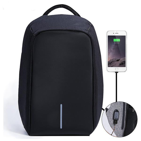 Anti Theft Water Resistant Backpack Black