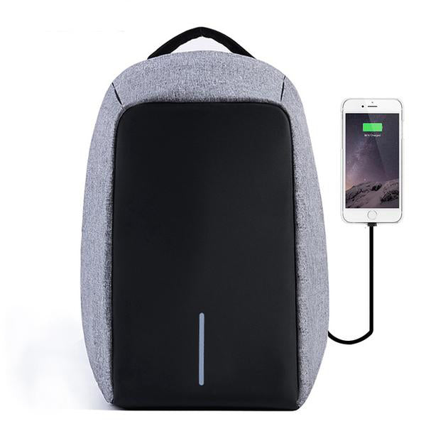 Anti Theft Water Resistant Backpack Gray
