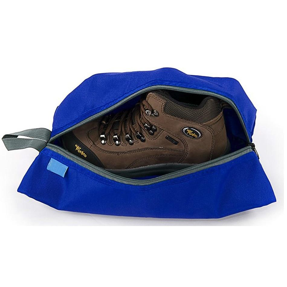 Portable Waterproof Travel Shoe Bag - Blue w/shoes