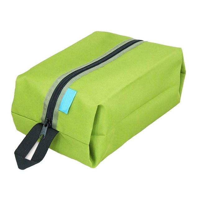 Portable Waterproof Travel Shoe Bag - Green