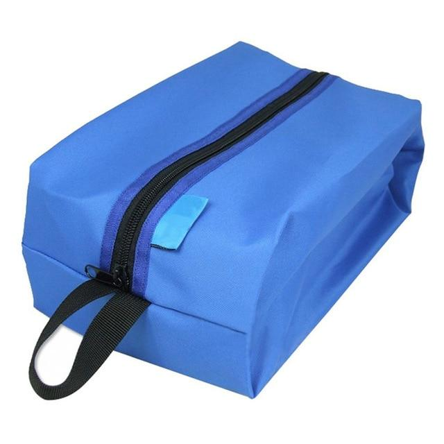 Portable Waterproof Travel Shoe Bag - Blue