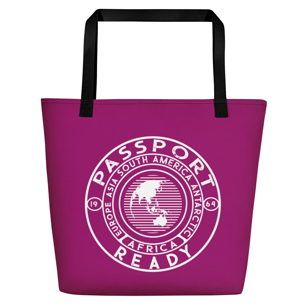 Passport Ready Beach Bag Purple (ish)