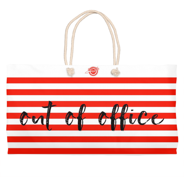 Noir Girl Magic Out Of Office Weekender Tote- Red