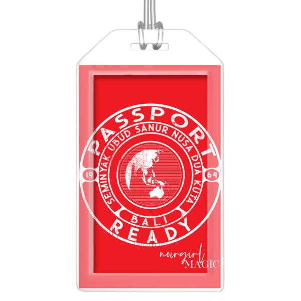 Passport Ready Bali Luggage Tags Tomato Red